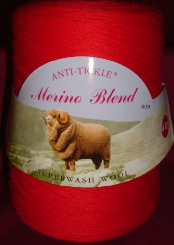 King Cole Pure Wool Yarn 500g Cone 4ply - Scarlet
